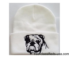 Embroidered Dog Breed Knit Hats