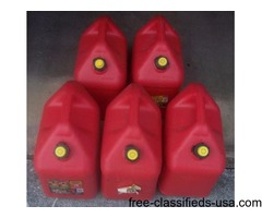 5 ea. five gallon gas cans.