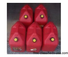 5 ea. five gallon gas cans.