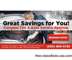 Great Savings on Tires and Automotive Service