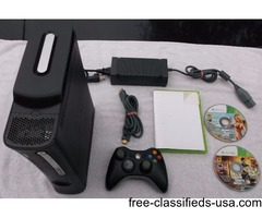 Xbox 360 Elite of 250GB with 2 Wireless Controllers & GTA V For Sale