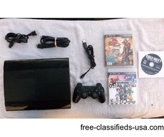 PS3 Super Slim of 500GB w 1 Wireless Controller & 5 Good Games