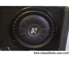 "10"" sub woofer in box"