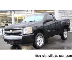 2007 Black Chevrolet Silverado 1500 Pickup Truck V8 in Ravena!