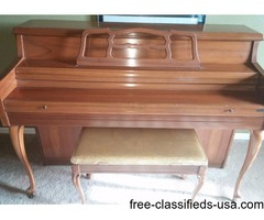 Kimball artist console piano for sale