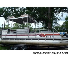 1991 Aloha Double Decker 24ft with 88hp Evinrude