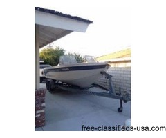 1997 21.5 ft. Crestliner Johnson O/B w/Trailer