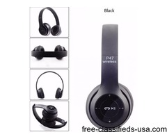 P47 Bluetooth 4.1 + EDR Wireless Headphone with Micro SD/TF Slot