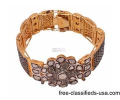 Buy Silver Bracelets with Rose Cut Diamonds