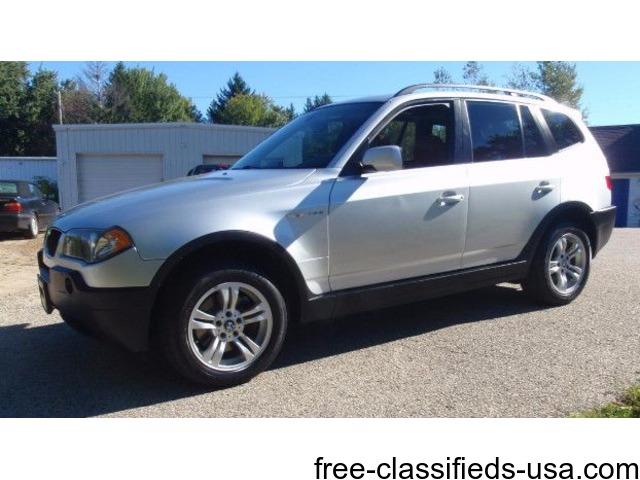 2004 BMW X3 3.0i SUV *Silver w/Terracotta Black Interior* - Cars ...