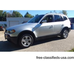2004 BMW X3 3.0i SUV *Silver w/Terracotta Black Interior*