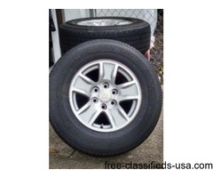 "Chevy Silverado 2014 17"" Rims and Tires for sale"