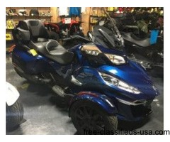 New 2016 Can-Am Spyder RT-S SE6 Motorcycle in Orbital Blue