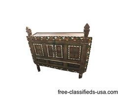 Antique Console Damchia Sideboard Hand Carved Indian Chest