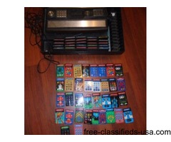 Mattel Intellivision Console - 24 games - 34 overlays UNTESTED