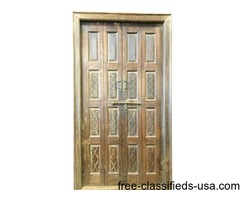 Wooden Double Doors with Frame Antique India Furniture