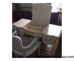 French makeup table with chair