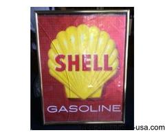 Shell gasoline sign in frame