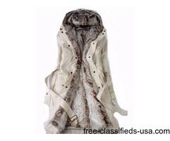 Woman Fur Coat Petite Short: XL, XXL