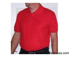 Big & tall Mens Polo Shirt: Sm, Med, Large, Xl