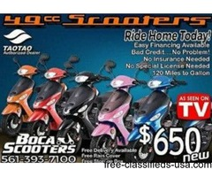 Brand New 50cc and 150cc scooters for wholesale W/ Lowest priced!