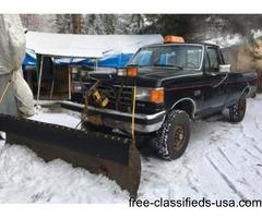 Snow plow f 250 truck