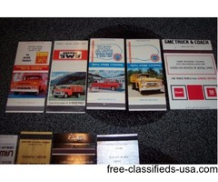 5 GMC Truck Matchbook Covers