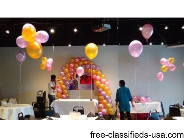 BALLOON ARCHES AND COLUMNS for WELLNESS EVENTS