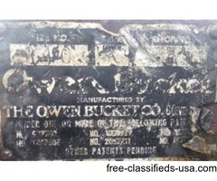Owen Clamshell Bucket - Type K - Size No. 140 - Rating: 1 1/4 yds