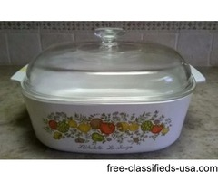 CORNING WARE SPICE OF LIFE 4 QT. CASSEROLE DISH W/ LID