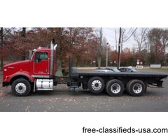 2009 KENWORTH T800; 20' FLATBED