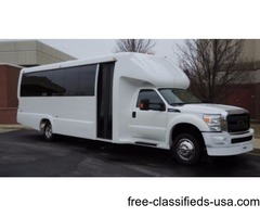 2015 Ford F550 27 Passengers Plus Co Pilot New Shuttle Bus Rear