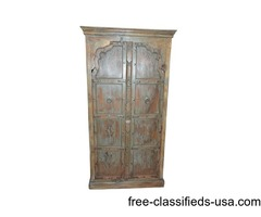Large Salvaged Vintage Reclaimed Moroccan Armoire