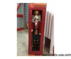 *CHRISTMAS NUTCRACKER* 3fT. Tall Quality Handcrafted