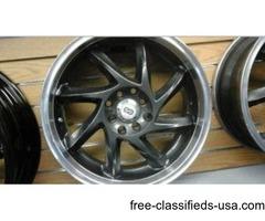 set of four wheels 17 4x100/4x4.5 ENKEI PERFORMANCE SERIES