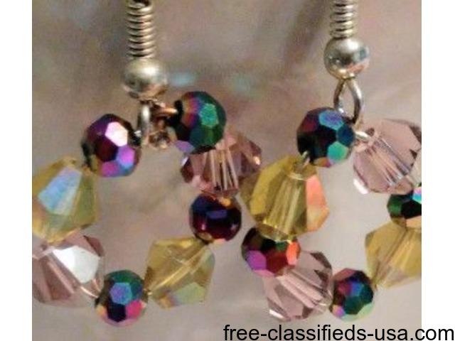 Homemade Swarovski Crystal Earrings