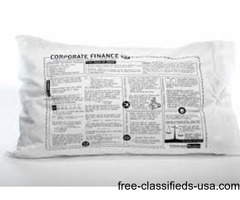 Psychology, Biology, Drama,  Math Printed Study  Pillowcase