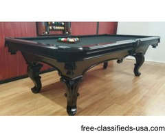 NEW SLATE POOL TABLE. (free delivery and set )