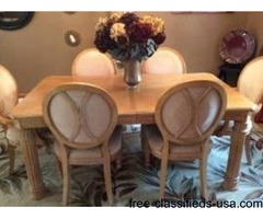 Gorgeous Dining Table/6 Chairs & Buffet
