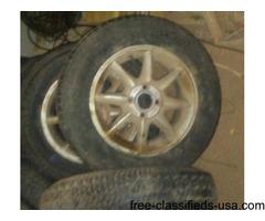 "4 -15"" factory Alum 4 bolt alum wheels"