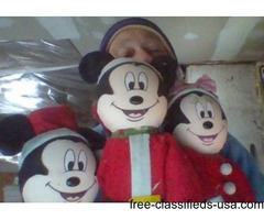 3 mickey mouse dolls