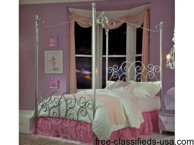 princess canopy bed no credit needed financing home furniture garden supplies columbus. Black Bedroom Furniture Sets. Home Design Ideas