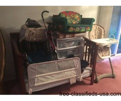 Infant through Two, Crib car seat, high chair, etc