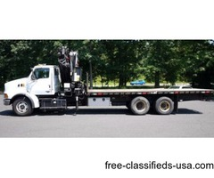 2004 STERLING LT9500; PM 345 KNUCKLEBOOM CRANE TRUCK