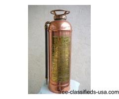 Vintage COPPER TANK FIRE EXTINGUISHER