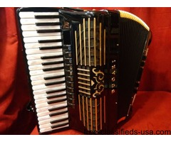 Black Bugari Gold Plus Piano Accordion