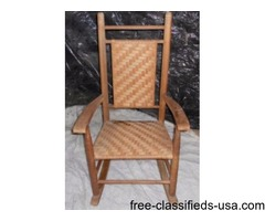 Antique all natural wicker rocker