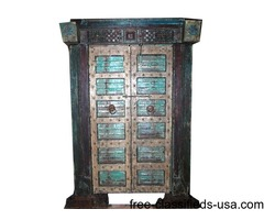 Antique Indian Doors Hand Carved Haveli Teak Wood Double Door