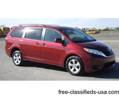 2015 Toyota Sienna 4 Passenger Plus 1 Wheelchair Position Van