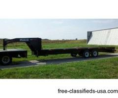New 2017 Model 25ft Gooseneck Trailer w/ 7k Axles & 5ft Ramps